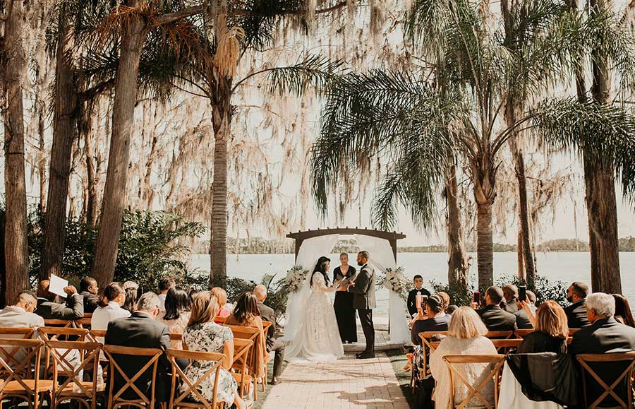 Paradise Cove, an idyllic Orlando beach wedding venue on the shores of Lake Bryan. A fairy tale wedding to fit your vision & budget. Schedule a tour today.